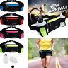 Gym Running Belt Jogging Cycling Waist Pack Pouch Sports Bag 280ml Water Bottles