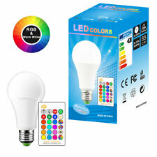 5W 10W 15W RGB LED Bombilla Intercambiable de Colores RGBW Lámpara Con Ir Mando