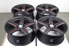 "17"" Wheels Cobalt Spark Honda Accord Civic Cooper Yaris Matt Black Rims 4 Lug"