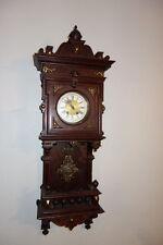 Gorgeous Antique Lenzkirch Balcony German Wall Clock w/ brass / bronze fittings