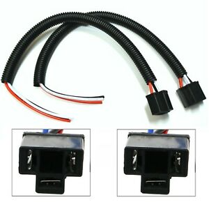 Extension Wire Pigtail Female P S 9003 H4 Two Harness Head Light Connector Plug