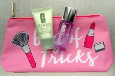 CLINIQUE FOAMING SONIC FACIAL SOAP MAKE UP REMVER 2016 BAG OF TRICKS PINK NEW