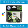HP 60XL High-Yield Single Ink Cartridge in Box (Black or Tri-Color), EXP 2020