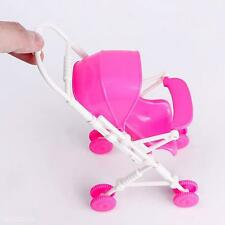 DIY Assembly Baby Buggy Stroller Dollhouse Nursery Furniture Toy For Barbie Doll