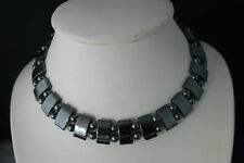 "Nice Choker  Necklace With hematite Gems 4.5"" Inches Wide + Extension"