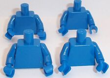 Lego Blue Torso's x 4 with Blue Hands & Arms for Miinifigure