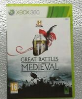 GREAT BATTLES MEDIEVAL -Microsoft Xbox 360, 2010 -tested