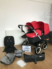 🖤❤️BUGABOO DONKEY BLACK/RED (2 Seats,1carrycot)🖤❤️
