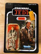 Star Wars ROTJ Han Solo (Trench Coat)Figure - 1983 Kenner 77-Back -MOC Unpunched