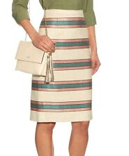 NWT $275 Weekend Max Mara Caldaia Striped Pencil Skirt Size 12(US) 46(IT)
