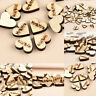 50pcs Chic Rustic Wood Wooden Love Heart Table Scatter Wedding Decor Crafts DIY
