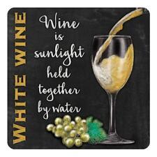Verre à vin blanc boisson pub bar cuisine vieux Publicité Table de Dessous