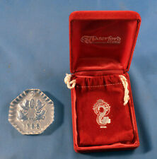 Rare Version 1988 Waterford Crystal 12 Days of Christmas Ornament 5 Gold Rings