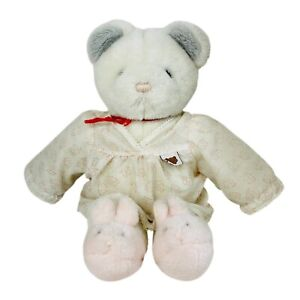 Gund Teddy Two Shoes White Bear Pink Bunny Slippers Plush Stuffed Animal 1985