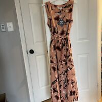 NEW WITH TAGS AVA & VIV PINK FLORAL MAXI DRESS SIZE X