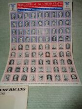 Grossman Stamp Co. Gummed Stamps Of Presidents Of U.S.& Other Historical People
