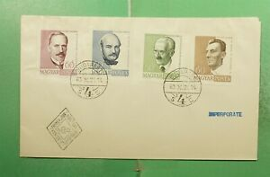 DR WHO 1960 HUNGARY FDC FAMOUS PEOPLE PORTRAIT IMPERF COMBO  g14153