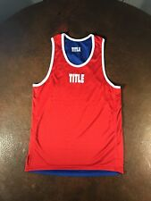 Title Boxing Reversable Amature Boxing jersey Tank Top red and blue small