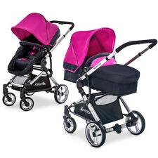 Hauck Kombi Kinderwagen Buggy 2in1 Manhattan mit Babywanne - Charcoal Purple
