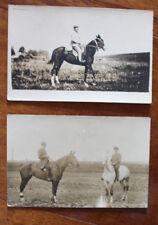Lot de 2 Cartes photos- Soldats- Cavaliers et chevaux- 1 guerre mondiale- WW1