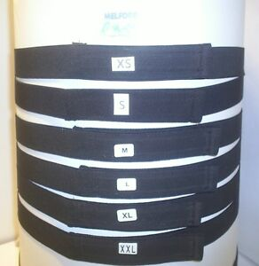 ADULTS ELASTIC BLACK BELTS WITH VELCRO® brand  HOOK & LOOP FASTENINGS  38ml wide