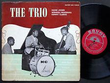 HANK JONES WENDELL MARSHALL KENNY CLARKE The Trio SAVOY MG12053 MONO Donald Byrd