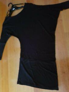 WOMEN'S ICE DESIGN ASYMMETRIC DRESS/TOP - SIZE S