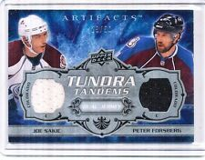 2008-09 UD UPPER DECK ARTIFACTS SAKIC, FORSBERG DUAL JERSEY 29/50 TUNDRA TANDEMS