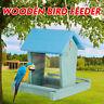 Wooden Gazebo Bird Feeder Hanging Feeder Outdoor Feeding Garden Decor Home