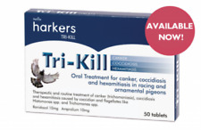Harkers Trikill for canker, coccidiosis & hexamitiasis: racing & fancy pigeons.