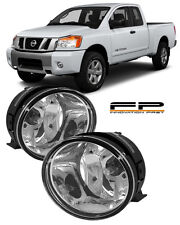 For 2004-2014 Nissan Titan Clear Replacement Fog Light Housing Assembly Pair