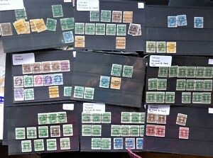 CANADA PRECANCEL collection on cards UNSORTED  CAN.$1.99 COMB. SHIPPING