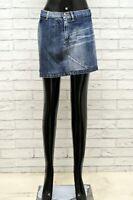 Gonna GAS Donna Taglia Size 40 S Pants Shorts Skirt Woman Cotone Corto Mini Blu