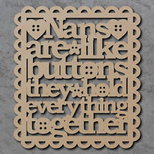 Nans son como los botones de señal-De Madera De Corte Láser Mdf Artesanales formas