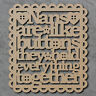 Nans Are Like Buttons Sign - Wooden Laser Cut mdf Craft Shapes