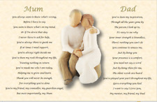 MUM and DAD GIFT (Parents Gift) A4 laminated poem