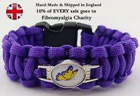 Fibromyalgia Paracord Awareness Bracelet Wristband 10% Goes to Charity