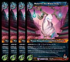 4x Malorne the White Stag War of Ancients Epic 1 World Warcraft WoW TCG Card
