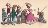 Concert Vocal Chorale Chant Choir Singer Jean Jacques Grandville 1869