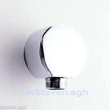 Round Wall Mount Shower Supply Drop Elbow Chrome AE-7