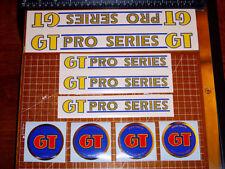 1985 GT BMX Pro Series, restoration decals on clear, JT Racing, ACS, ODI