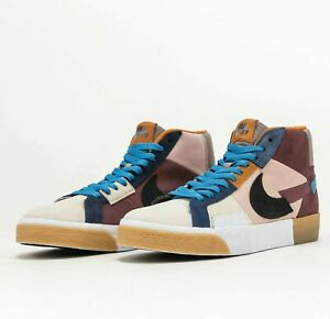 Nike SB Zoom Blazer Mid Premium Mosaic Dark Wine DA8854-600 Skate Shoes Sneakers