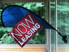 Leasing Now Open House Sign Real Estate Flag Apartment Leasing Sign Flag Kit