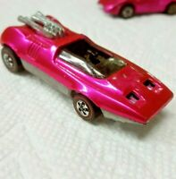 VINTAGE HOT WHEELS 1969 REDLINE PEEPING BOMB FLOURESCENT HOT PINK WITH TONING