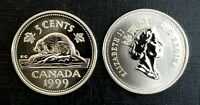 Canada 1999 Specimen Gem UNC Five Cent Nickel!!