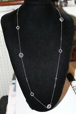 GENUINE LINKS OF LONDON SILVER EFFERVESCENCE BLUE DIAMOND AND PEARL NECKLACE