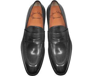 Santoni Loafer Leather Shoes Sz 10.5 Duke Penny Blake Rapid Construction RRP£825