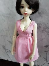 Pink wrap dress for MSD BJD Moe line full bust