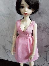 Pink wrap dress for MSD BJD Moe line full bust