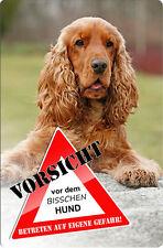 COCKER Spaniel - A4 Metall Warnschild Hundeschild SCHILD Türschild - CKS 10 T3